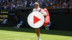 Roger Federer in new Uniqlo apparel at Wimbledon; wins against Dusan Lajovic