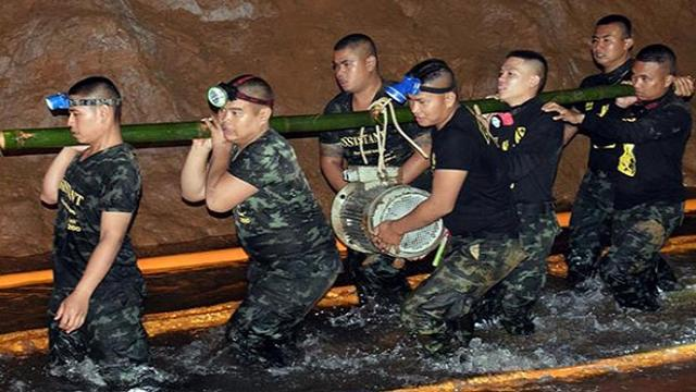TAILANDIA/Iniciadas las tareas de rescate para salvar a los niños atrapados