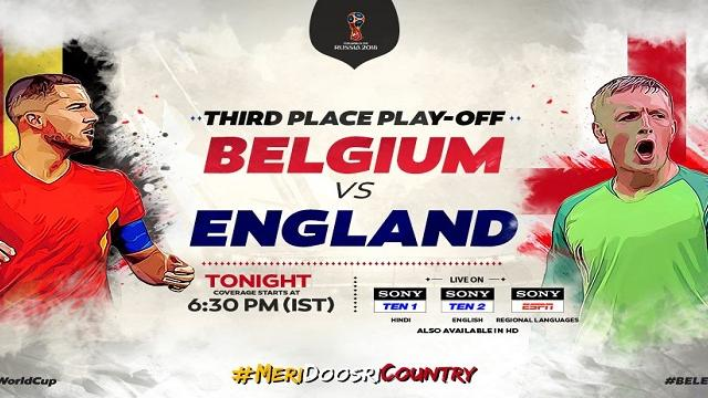 England vs Belgium live streaming on ITV & Sony Liv: FIFA 2018 3rd place playoff