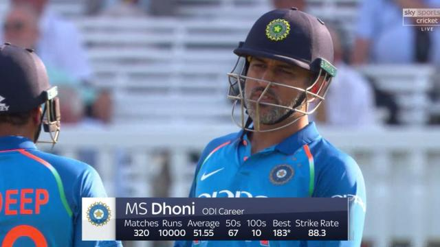 MS Dhoni booed by spectators for slow innings at Lord's during 2nd ODI v England