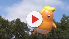 Trump Baby balloon was not welcomed by everyone, but he got off lighty.