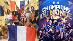 Les candidats de télé-réalité fête la coupe du monde 2018