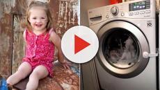 USA, bimba si chiude nella lavatrice, programma parte da solo