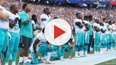 Donald Trump wants NFL players banned for season if they kneel during anthem