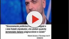Roberto Saviano contro una fake news su di lui