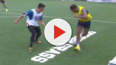 Calciatore dilettante ruba palla a Neymar, il brasiliano lo stende