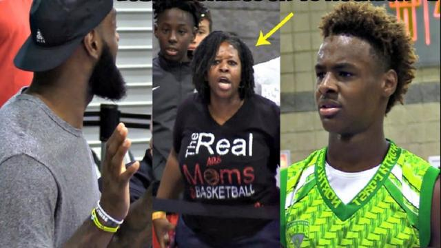 LeBron James and son Bronny dealing with hecklers at AAU games