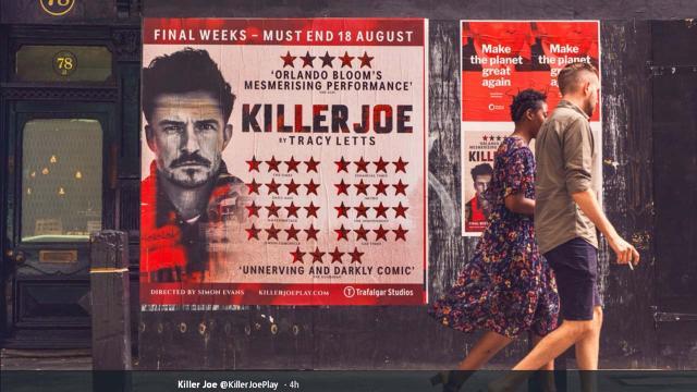 Orlando Bloom halts 'Killer Joe' West End play twice due to woman with iPad