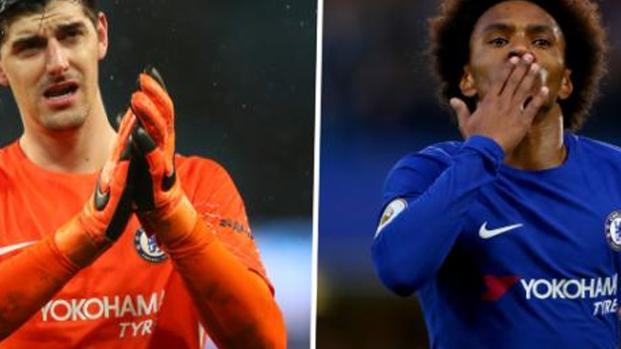 Rumor/ Real Madrid fez proposta ao Chelsea por Willian e Courtois, diz jornal