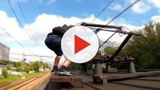 VÍDEO: Train surfing es el nuevo y peligroso reto viral