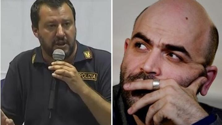 Roberto Saviano all'attacco del Ministro dell'Interno Matteo Salvini