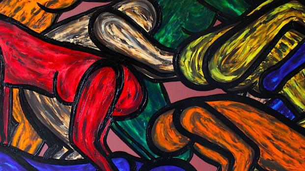 Images of artwork by Francesco Ruspoli