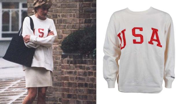 Princess Diana's sweatshirt on online auction