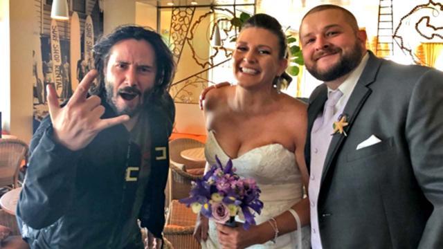 California wedding photobombed by Keanu Reeves