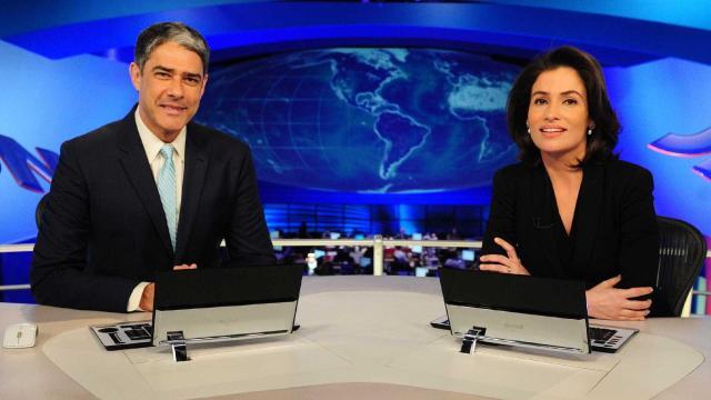 Internautas descobrem salários de William Bonner e Renata Vasconcellos