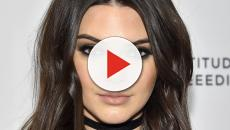 Kendall Jenner in completely sheer outfit with rumoured flame Anwar Hadid
