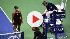 Serena Williams mantiene un duro cruce con el arbitro en la final del US Open