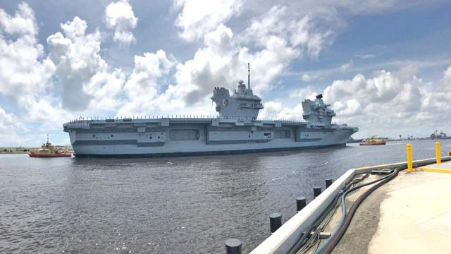 Six Navy sailors on the HMS Queen Elizabeth were arrested in Florida