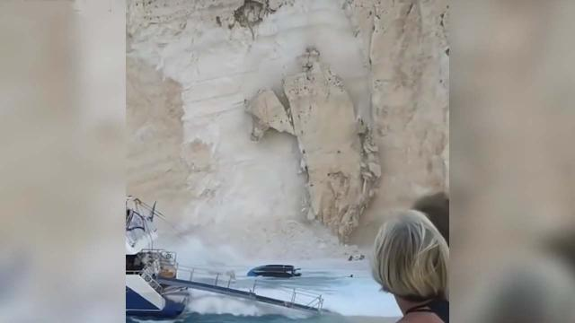 Shipwreck Beach: Rockfall crashed down onto popular Navagio Beach in Zakynthos