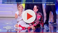 Gaffe a 'Domenica Live': Malgioglio cade in diretta e butta giù la D'Urso