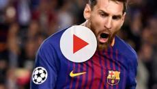 Messi faz três gols e Barcelona goleia PSV