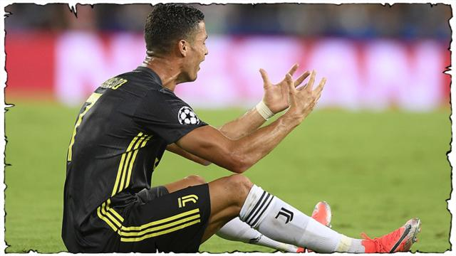 Valencia-Juventus 0-2: Cristiano Ronaldo espulso al 29'