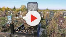 Dead ringer: iPhone tombstone in Russian cemetery surprises mourners