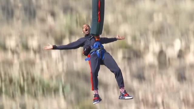 Will Smith marks 50th birthday by bungee jumping from helicopter