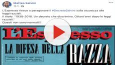 Salvini, una copertina dell'Espresso scatena la bufera