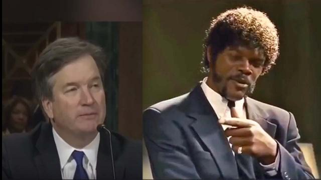 Brett Cavanaugh's senate hearing gets mashed up with Pulp Fiction