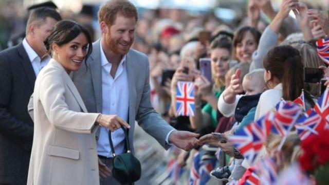 Prince Harry and Meghan visit Sussex as duke and duchess