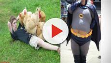 Fotos estranhas de pessoas na internet