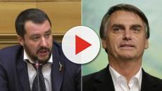 Matteo Salvini comemorou a vitória de Bolsonaro