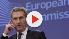 Oettinger: 'Manovra italiana bocciata dall'UE', poi rettifica: 'Un mio parere'