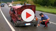 Inversione a U sulla 268: terribile incidente per il conducente di una Panda