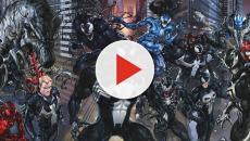 Alguns personagens da Marvel em sua versão simbionte