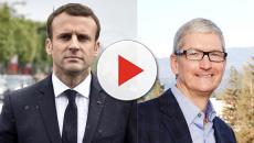 Emmanuel Macron a reçu Tim Cook, PDG d'Apple, à Paris