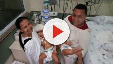 Hospital libera foto de gêmeas siamesas após cirurgia de separação