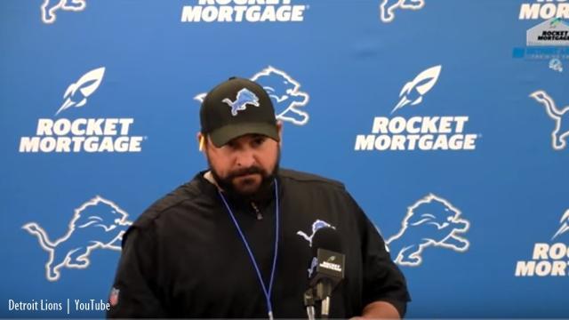 Detroit Lions: Head coach Matt Patricia tells a reporter to respect the process