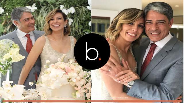 William Bonner e Natasha Dantas comemoram casamento