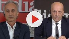 La7: scontro tra Marco Travaglio e Alessandro Sallusti a 'Dimartedì'