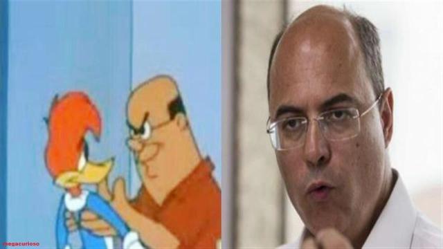 Pessoas que parecem ser personagens de desenhos animados famosos