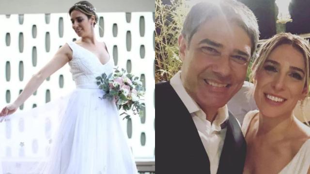 Vídeo do casamento de William Bonner e Natasha Dantas circula nas redes sociais