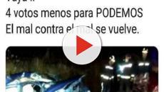 VIDEO:La seguidora de Vox tuiteó: 'Vaya, 4 votos menos para Podemos