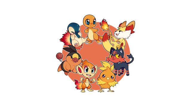 Os Pokémon iniciais do tipo fogo