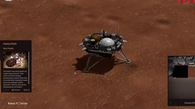 Mars: NASA's InSight module landed safely after a seven-month journey