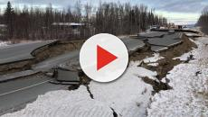 Alaska hit by a 7.0 magnitude earthquake damaging roads and bridges