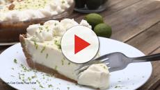 Simple key lime pie with creme chantilly