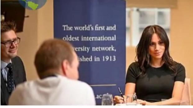 Meghan Markle made a surprise appearance at King's College London