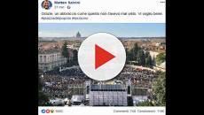 Lega in piazza a Roma, Salvini: 'Non posso ripetere 'molti nemici molto onore''